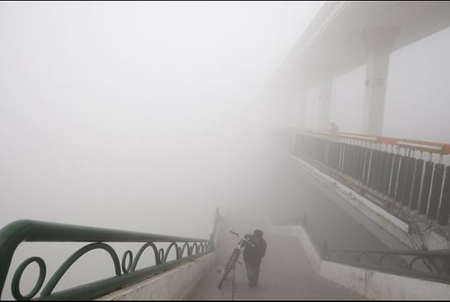 Smog in Harbin, China.