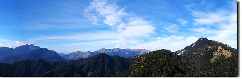 奇萊、合歡、畢祿稜線(From 羊頭山)
