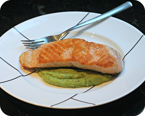 Crispy Skin Salmon with Avocado Remoulade