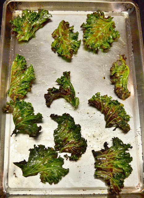 broiled kale chips