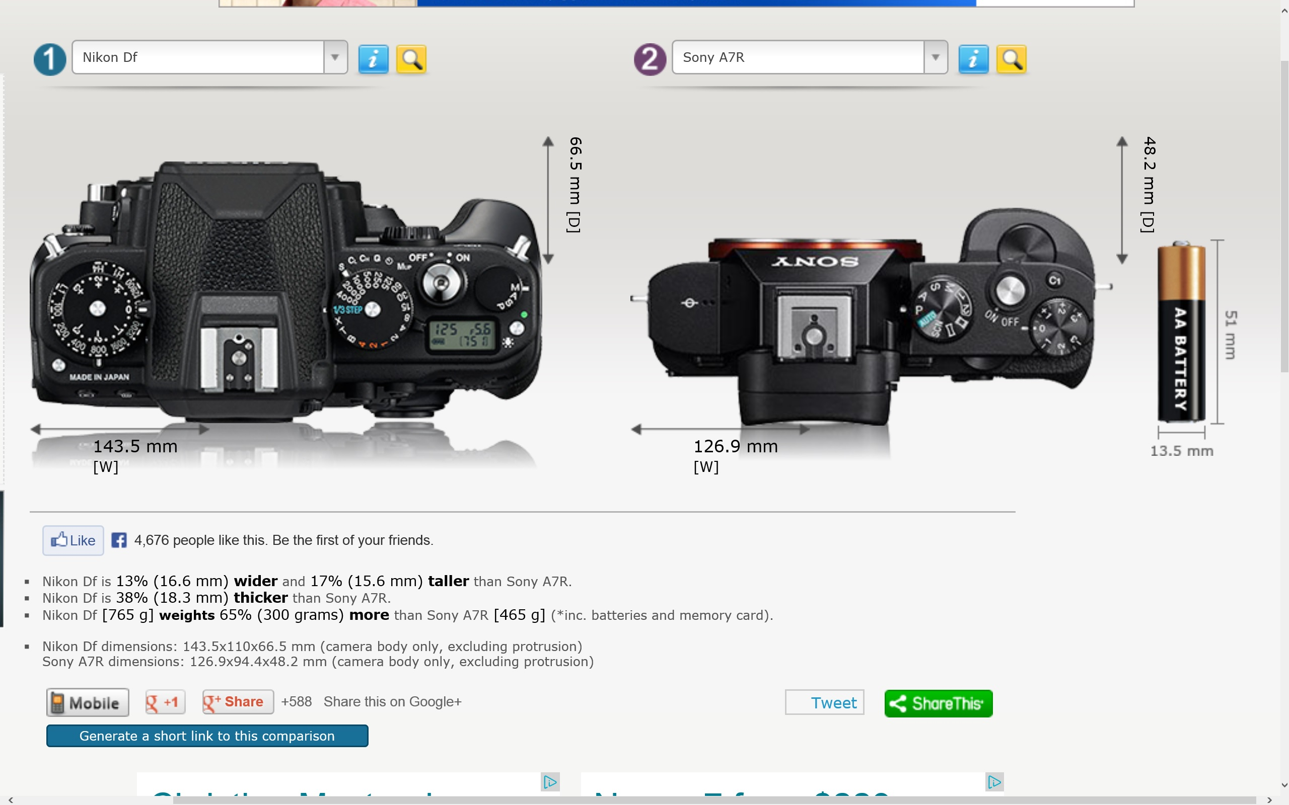 Re size comparison sony alpha full frame e mount talk forum view original size malvernweather Choice Image