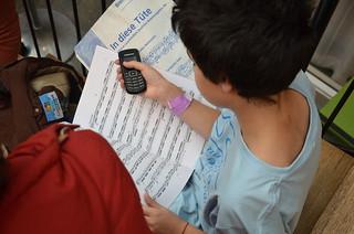 Brassbandfestivalen 2013 - Nyinköpta övningsnoter (Foto: Olof Forsberg)