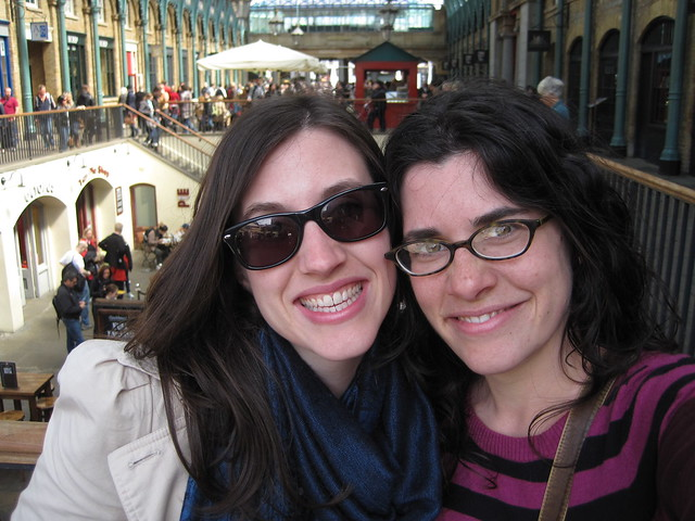Happy girls at Covent Garden