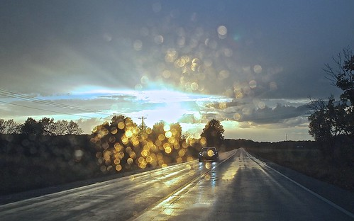 road autumn sunset sky fall rain clouds landscape illinois october midwest country prairie