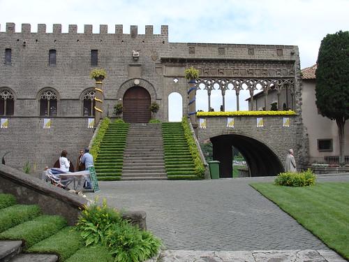 Der Papstpalast in Viterbo
