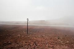 fog, horizon, soil, haze, natural environment, morning, landscape, mist, dust,