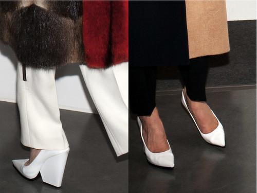 Celine+white+wedge+heels