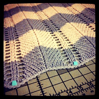 Quinn's blanket blocking... #babyblanket #knitstagram #handknit #handmade #knitting