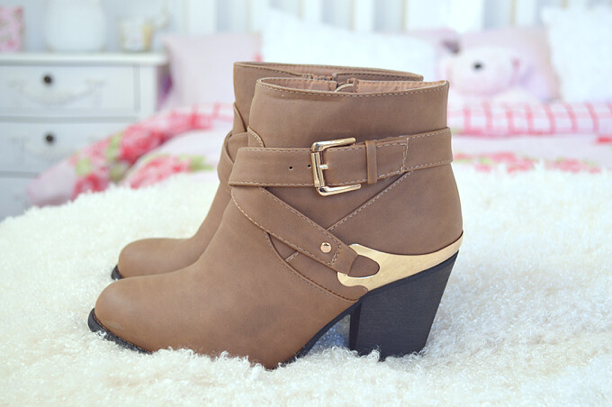 tan boots new look