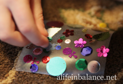 Contact Paper Ornament for Kids to Make
