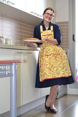 retro apron, vintage apron, apron tutorial