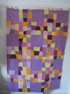 Crazy Nine Patch Lattice Quilt