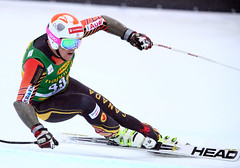 Ben Thomsen during the super-G in Lake Louise, CAN