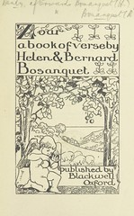 """British Library digitised image from page 7 of """"Zoar. A book of verse by Helen & Bernard Bosanquet. (Translations. By Bernard Bosanquet. Verses. By Helen Bosanquet.)"""""""