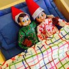 No funny business! These elves are worn out. Paige is going to love seeing them in their pjs. #elfontheshelf #ralphelf #ralphandhollyelf #tradition #christmas