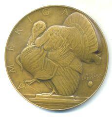 Turkey medal by Albert Laessle obverse