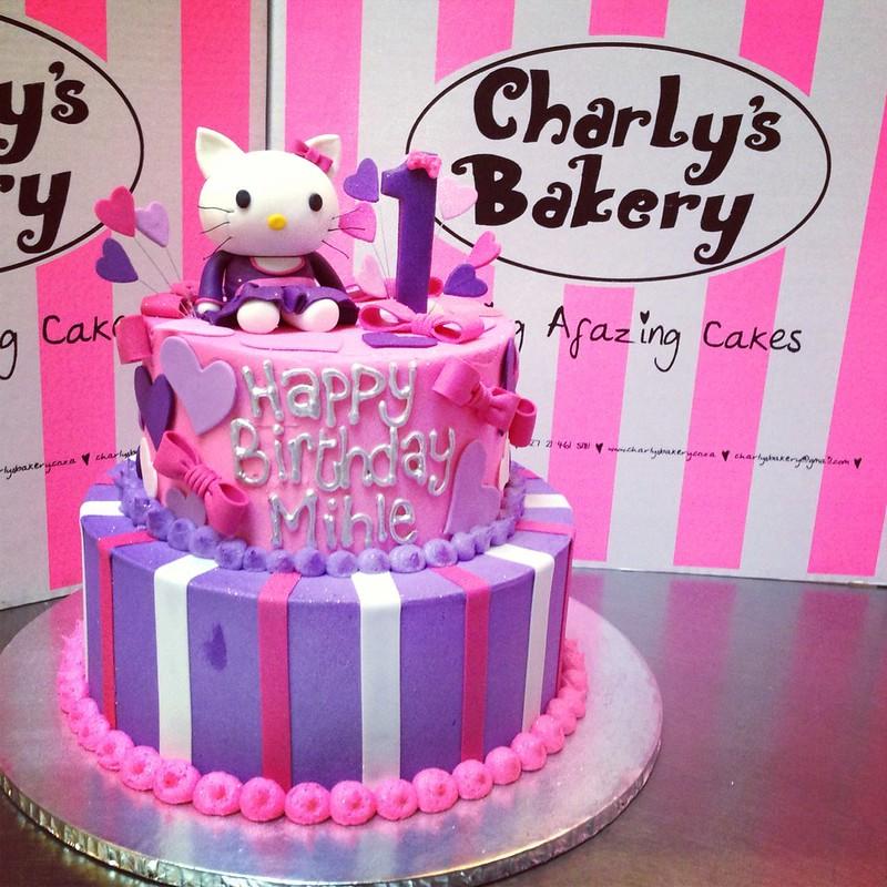 Hello Kitty 1st Birthday Cake 2 Tier Hello Kitty Cake