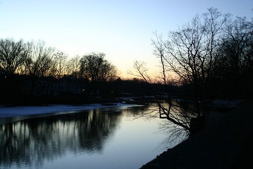 Mystic River at dusk
