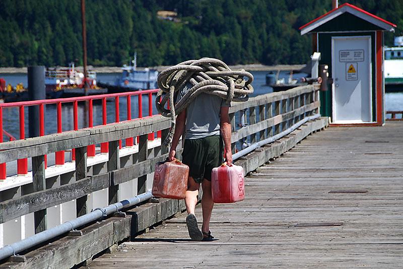 Dreadlocks increase strength in Fanny Bay, Vancouver Island, British Columbia