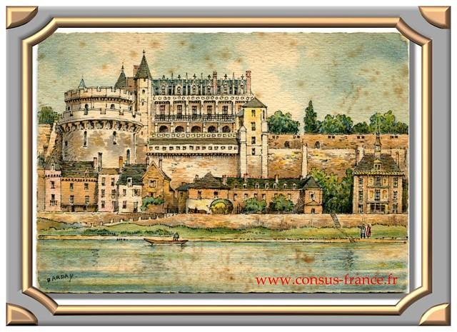 AMBOISE - Le Château (Façade sur la Loire) 2035 A