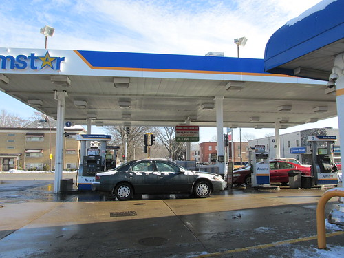 The Amstar Conveinience Gasoline Station in Riverside Illinois. January 2014. by Eddie from Chicago