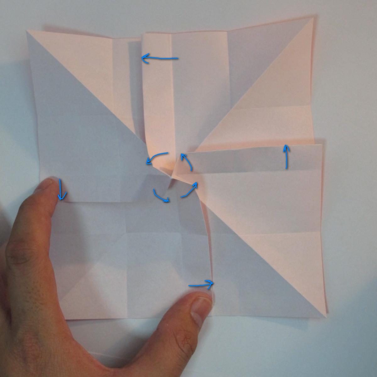 วิธีพับกระดาษพับดอกกุหลาบ 021