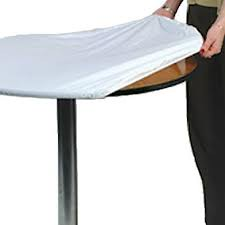 36 Inch Round Plastic Elastic Table Covers