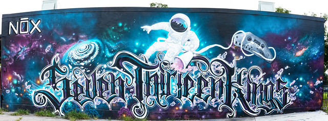 Seven Thirteen Kings Whole Wall Panoramic | Houston Texas Graffiti | 002