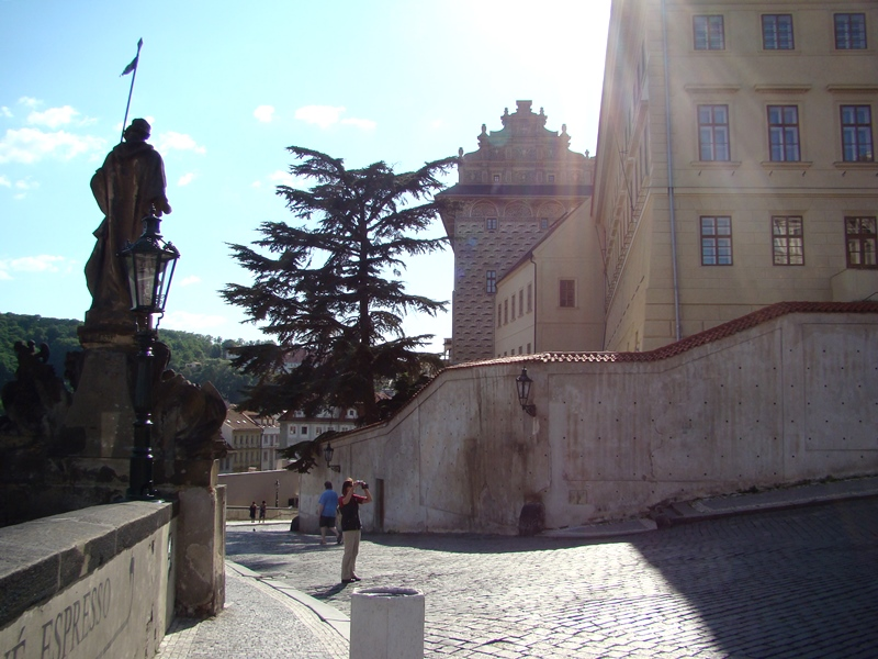 outside Prague Castle