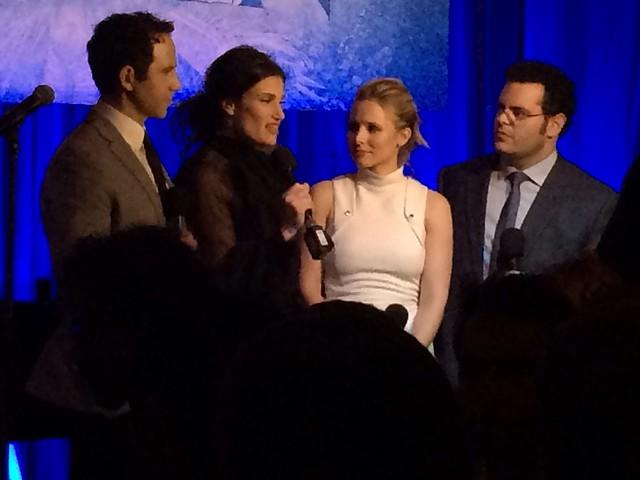 Frozen Cast Santino Fontana, Idina Menzel, Kristen Bell, and Josh Gad from Disney's Frozen Live