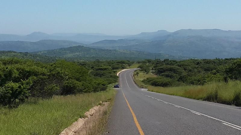 Clear blue skies through Zulu country