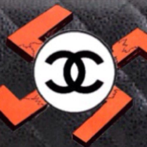Looks like Coco Chanel was a Nazi spy. Logo suggestion. #chanel #swastika #handbag #logo