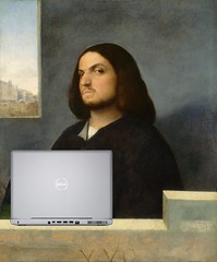 Portrait of an Angry Blogger, after Giorgione and Titian