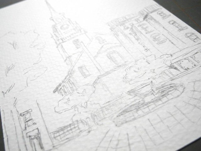 Old North Church Sketch