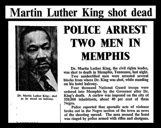 4th April 1968 - Martin Luther King assassinated   Explore ...