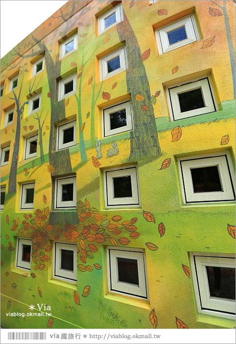 【彰化村東國小】彰化彩繪國小~夢幻繪本風!童話小屋居然在校園裡現身了10