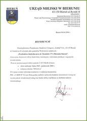 Referencje Urzędu Miejskiego w Bieruniu 2006r.(przebudowa budynku)