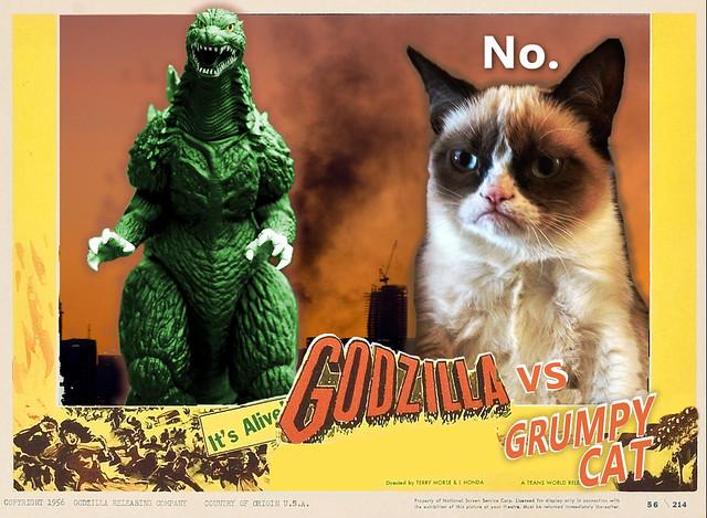 Godzilla Grumpy Cat