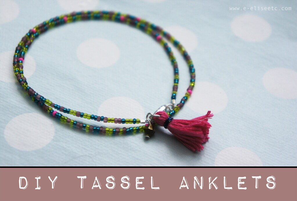 diy tassel anklet jewellery making tutorial