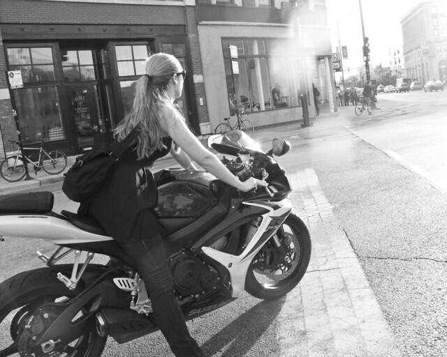 317/365 - Blonde Biker