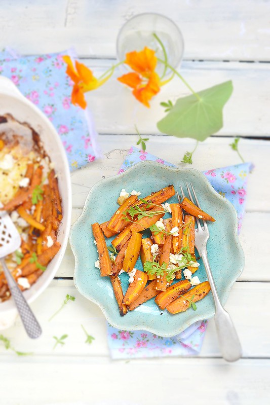 baked carrot with feta cheese.1