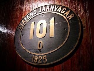 101 sign, Railroad Museum, Gavle, Sweden