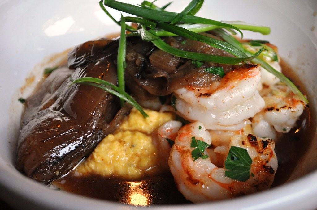 Shrimp and Grits Served at Zynodoa, Another Farm-to-Table Restaurant in Staunton, Va.