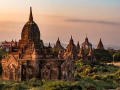 Sunset at the temples of Bagan, Myanmar. #travel #myanmar #burma