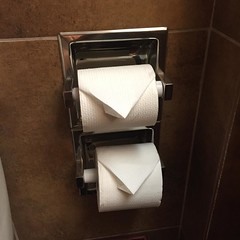 I've never seen a hotel room with double TP rolls. They must know I'm full of shit! #shittickets