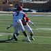Brandon Henrie makes a tackle.