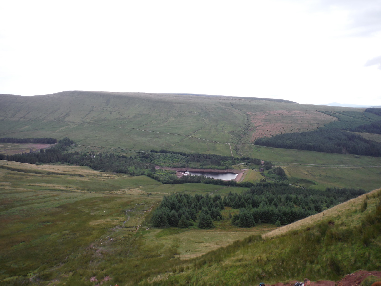 Waun Rydd on other side of (lower) Neuadd Reservoir SWC Walk 278 Breacon Beacons Horseshoe - Bannau Brycheiniog