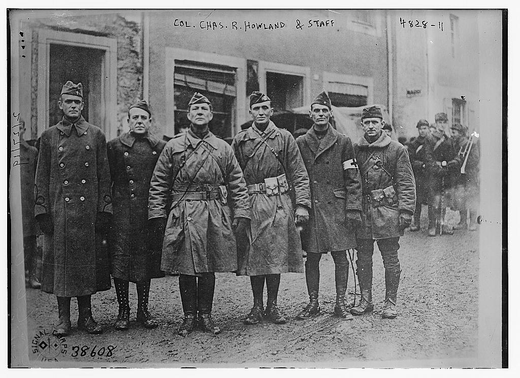 Col Chas. R. Howland & staff (LOC)