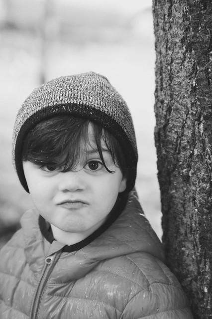the face of a 3yo