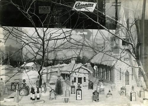 Brown's Drug Store, Window Display